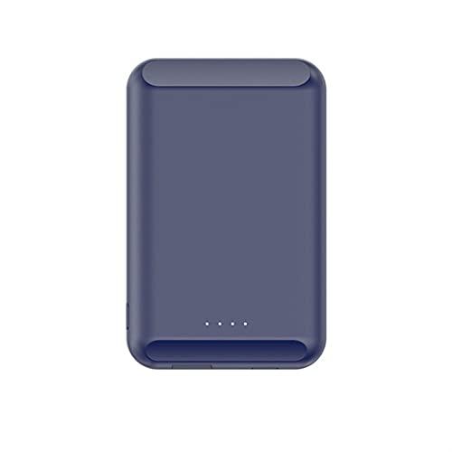 TWDYC Banco de energía inalámbrico magnético de 15 W/5 W para PowerBank, adecuado para Iphone12 12mini 12pro Max Pd20w mini imán de carga rápida, batería externa (15 W, azul)