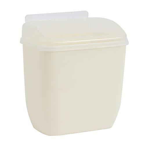 Gelentea Basurero de pared para colgar en la papelera para el baño, la cocina, la colección multifuncional de residuos de reciclaje de basura de cocina