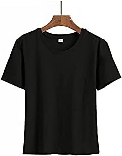 Wanxiaoyyyinnsdx Mens Henley Short Sleeve, Men's T-Shirts Black White Male Solid O-Neck Short Sleeve Summer Tops Tee Fashi...