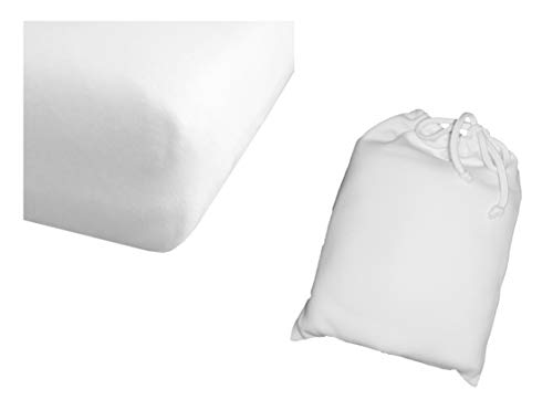 Arle-Living spännlakan vit 60 x 120 – 70 x 140 cm av ren bio bomull interlock jersey barn baby säng (vit, 60 x 120 – 70 x 140 cm enkel)
