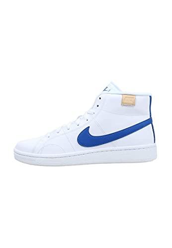 Nike Court Royale 2 Mid, Zapatos de Tenis Hombre, Blanco y Azul, 42 EU
