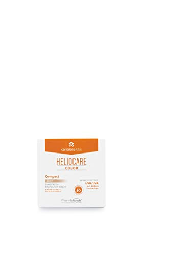 Heliocare Color Compacto SPF 50 - Fotoprotección Avanzada con Color, Filtros 100% Minerales de Alta Tolerancia, Formato Compacto, Todo Tipo de Piel, Light, 10gr