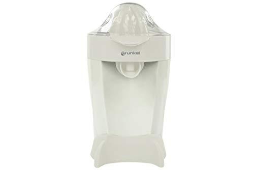 Grunkel - XP-60 - Exprimidor Naranjas o Citricos Eléctrico, Filtro de Pulpa, Función Start & Stop, Doble Sentido de Giro, Doble Cono y Cubierta Antipolvo - 60W - Blanco