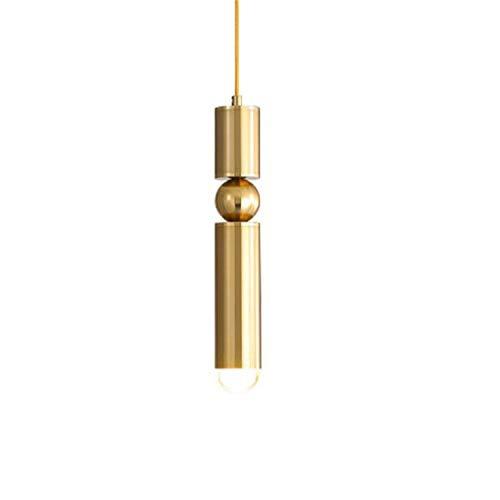 Hobaca E27 LED Oro Moderno Acrílico nórdico Lámpara colgante Comedor Luces colgantes Techo Soporte ajustable Foco para la isla de la cocina Iluminación