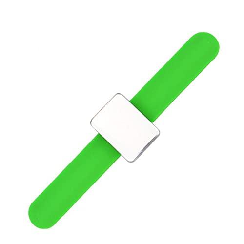 Hainice Magnética Soporte del Pasador Pulsera Pin Cuadrado del Brazo Soporte Amortiguador magnético alfiletero con Silicona Correa para la muñeca Verde