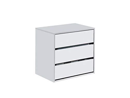 Habitdesign - Cajonera para Armario, Dimensiones 60 x 57 x 44 cm de Fondo (Blanco Brillo)