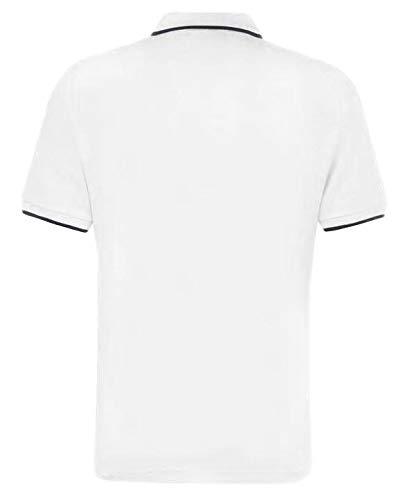 Ben Sherman Mens Classic Short Sleeve Pique Casual Smart Polo M White