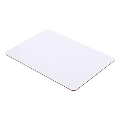 Supvox Mini Weiße Bretter Doppelseitige Lap-Boards mit Trockener Löschung  Universal Boards Whiteboards lernen für schulheim büro klassenzimmer (20 cm x 30 cm/Weiß)