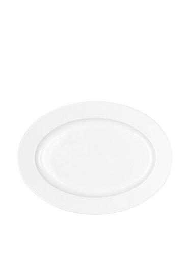 DEGRENNE - Plat Ovale 36,5x26,5 cm, Porcelaine, Blanc