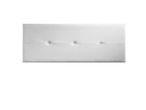 Cabecero tapizado Judith Blanco 160 X 55 X 3 cm, Incluye herrajes para Colgar