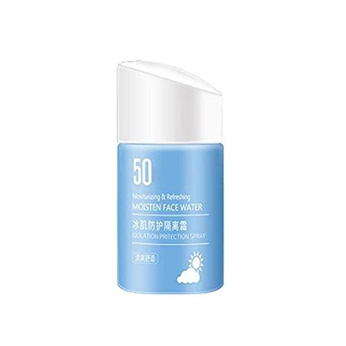 Lseqow Protección Solar SPF 50+ Crema de protección Solar refrescante, no Grasa, Impermeable, para Rostro y Cuerpo, 55 ml