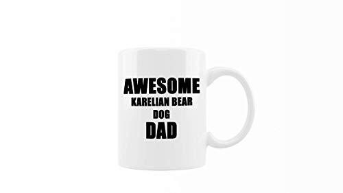 N\A Taza de café - Papá del Perro del Oso de Carelio Impresionante - Regalo Fresco y Divertido para los Amantes de los Perros, la Familia, los Amigos