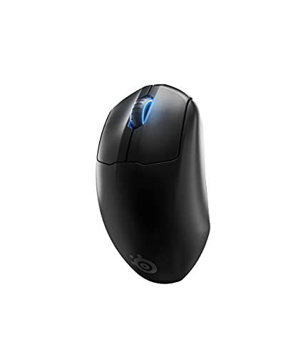SteelSeries Prime Wireless FPS Gaming Mouse with Magnetic Optical Switches and 5 Programmable Buttons – USB-C – 18,000 CPI TrueMove Air Optical Sensor – Prism RGB Lighting - Black (Renewed)