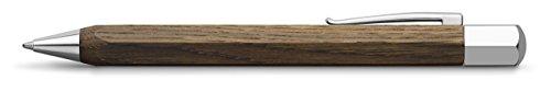 Faber-Castell Ondoro - Bolígrafo con cuerpo en madera de roble ahumado, con forma hexagonal