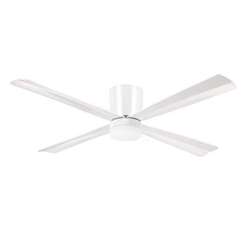 Sulion- Ventilador de Techo, 18 W, Blanco, 3000 K | Mando a Distancia Incluido, Función Verano/Invierno | Iluminación y Ventilación de Alta Calidad