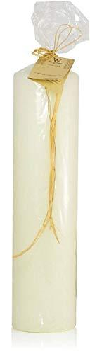INNA-Glas Candela da ciminiera/Candela da Altare Franziska, Avorio, 40cm, Ø8cm, 183h - Made in Germany - Candela conica - Candela Decorativa
