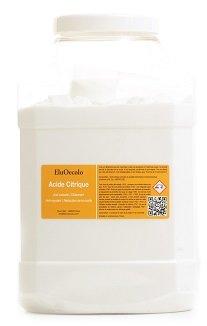 Acide Citrique Anhydre 4KG (qualité alimentaire & pharmaceutique) avec doseur à l'intérieur EluOecolo Made in France