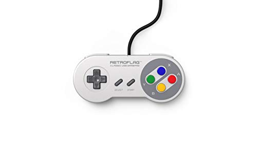 Retroflag Classic Wired USB Gaming Controller Compatible with PC, Raspberry Pi and Nintendo Switch Retro SNES Style JPad