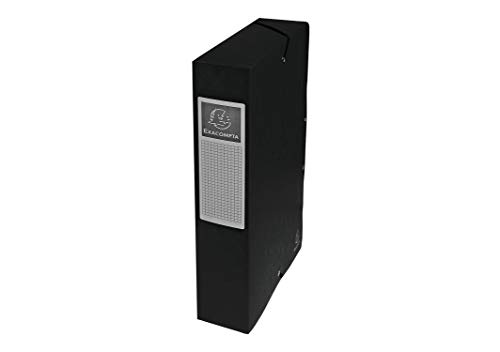 Exacompta 50601E Archivbox (Manila Karton, Rückenetikett, Rücken 60 mm, 600 g, DIN A4) 1 Stück schwarz