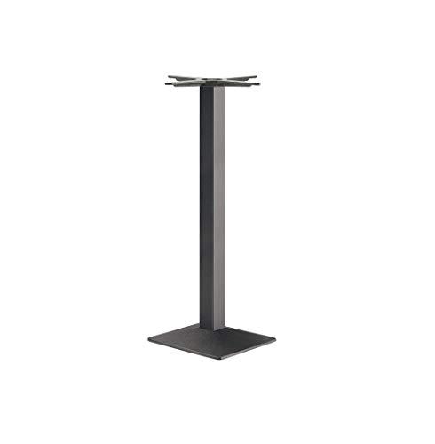 Gedotec Säulen-Tischgestell eckig Möbelfuß höhen-verstellbar Tischbein schwarz - Modell EES 1100   Höhe 1100 mm   Tisch-Gestell mit verstellbaren Bodengleiter   1 Stück - Design Tischfuß Untergestell
