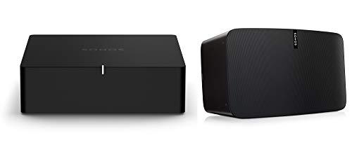 Sonos Port | WLAN Streaming für Stereoanlagen und Receiver (WLAN, AirPlay2, 12-V-Trigger) (Set mit 1x Sonos Play:5)