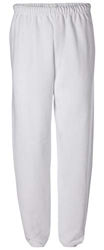Adult Soft and Cozy Sweatpants,White,Small