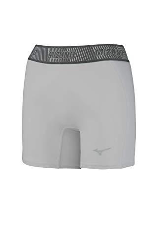 Mizuno Pantalón Corto Deslizante para niña Aero Vent Acolchado, Niñas, Gris, M