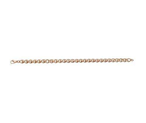 9ct oro rosso/rosa fiorentina metà 40,6cm/40cm collana
