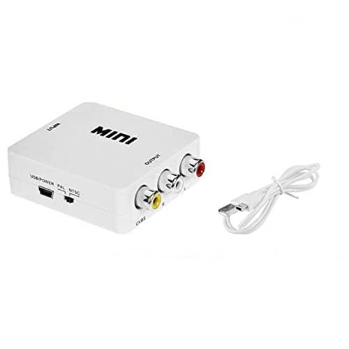 Timetided Mini Compuesto Compatible con HDMI a CVBS RCA AV Video Converter Adapter Video Converter Box HRCA Video Converter