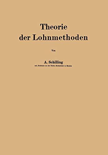 Theorie der Lohnmethoden