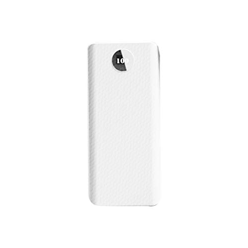 YOURPAI Nudelholz, Dual USB Typ C Power Bank Shell DIY Kit 20000mAh 8x18650 Akku Ladegerät Fall Micro USB Port für Handy Zubehör weiß