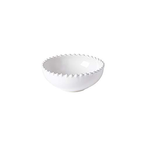 Costa Nova Colección Pearl Vajilla Gres Set de 6 Boles Bajo 15 cm, White