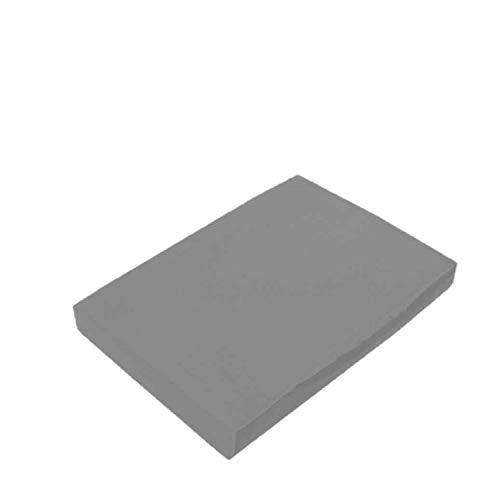 EXKLUSIV HEIMTEXTIL Marke Jersey Spannbettlaken Spannbetttuch Bettlaken Rundumgummizug 180-200 x 200 cm Grau