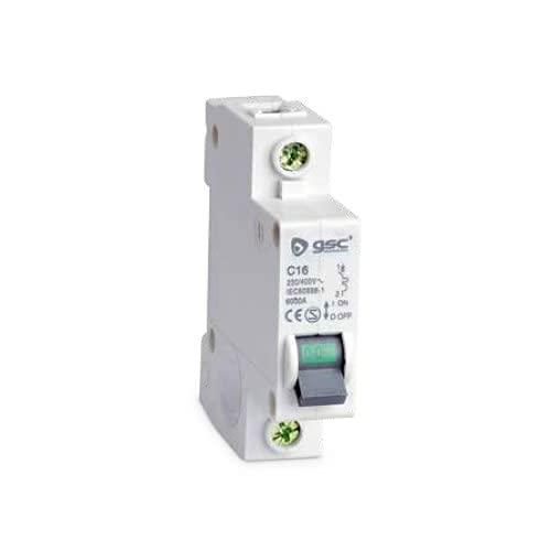 GSC Interruptor magnetotérmico Estrecho 1P 25A Curva C 0403651