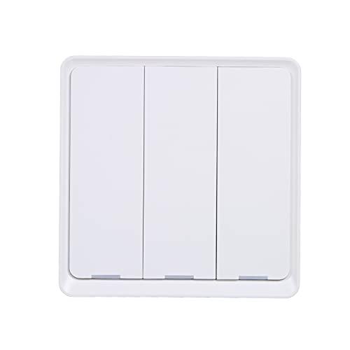 Interruptor de luz inteligente KKmoon Interruptor de luz Wifi de 2.4 Ghz Compatible con Alexa y Google Home con temporizador de programación Unipolar No requiere Hub