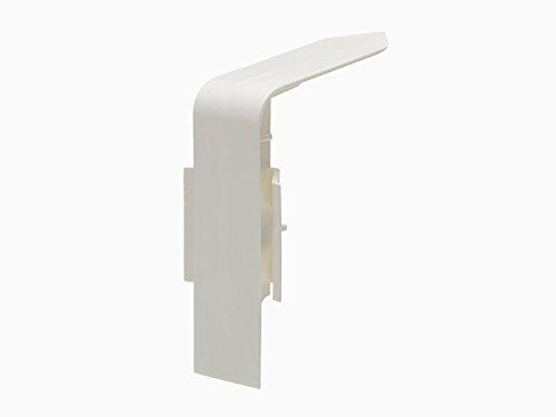 Primo Rohrverkleidung Innenecke | Kunststoff Innenecken weiß | passend zu Heizrohrverkleidung weiß 110mm | Cleverer Übergang zwischen Ihren Fussleisten | Inhalt 1 Stück