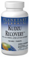 Planetary Herbals Kudzu Recovery Tablets, 60 Count