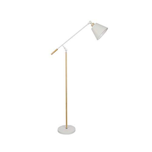 Lámpara de pie Nordic Modern Vertical Lámpara de mesa para sala de estar o dormitorio IKEA Cálida Estudio de Personalidad Creativa Simple M02-15 (color: brazo basculante blanco)