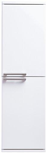 Midischrank ZLATA Badmöbel mit 2 Türen | 30 cm x 100 cm x 30,5 cm (BxHxT) | Hochglanz Lackierung in Weiß Echtlack | Edelstahl Griffe | Türen mit Soft-Close Funktion | Montagefertig vormontiert | 1 feste und 2 versetzbare Einlegeböden | Modernes Design | Hohe Schmutzabweisung | Wasserabweisend | Kostenloser Versand und Rückversand | Sofort lieferbar