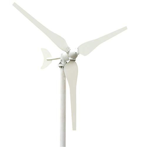 Walmeck- 50 Watt Windkraftanlage DC 12 V / 24 V Garten Straßenlaternen Windkraftanlagen 3 Klingen Windgenerator Kit Niedrige Windgeschwindigkeit Starten