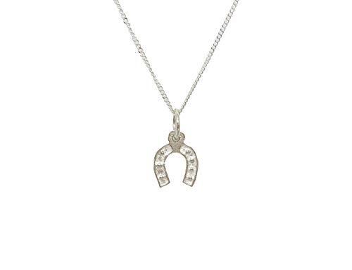 Kokomorocco Collar Mujer Plata de Ley, Colgante Suerte Amuleto, Herradura, pide un Deseo, Tarjeta Make a Wish, Regalos Originales