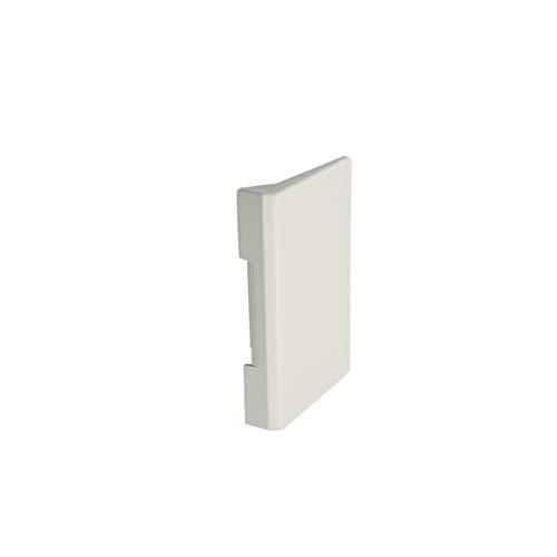 Kühlschrankgriff Klappengriff Griff Türgriff Gefrierfachtür Kunststoff ORIGINAL weiß Bauknecht Whirlpool 481249868226 Kühlschrank auch geeignet für Ignis Ikea Privileg Atag Smeg Laden Hanseatic uvm