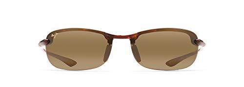 Maui Jim Makaha Reader Rectangular Reading Sunglasses, Tortoise/HCL Bronze Polarized, Large + 2