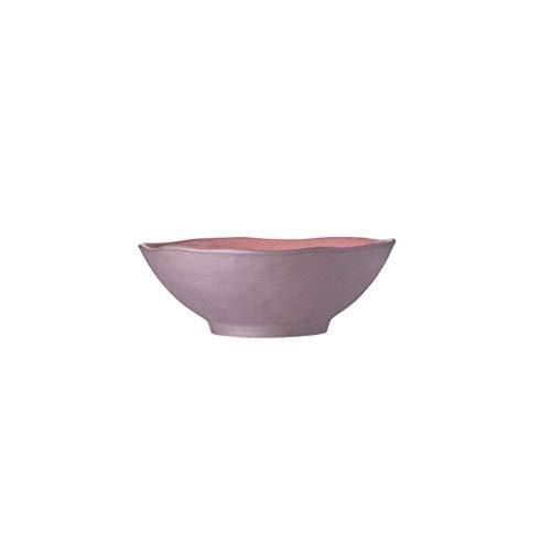 Keramische kom Keramische kom Home Restaurant Ramen Fruit Salade Praktische Rode Soepkom Servies 20.8x7.2cm/25x6cm M