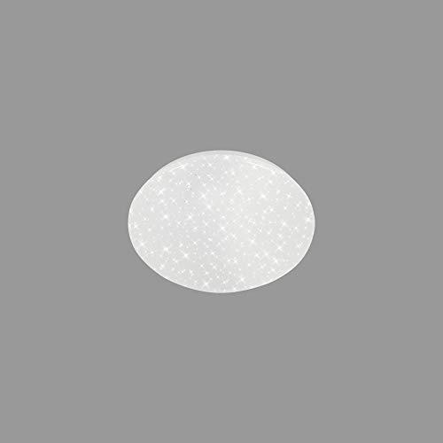 Briloner Leuchten - LED Deckenleuchte, Deckenlampe inkl. Sternendekor, Kinderzimmerlampe 8 Watt, 900 Lumen, 4.000 Kelvin, Weiß, Ø 22cm, 3479-016