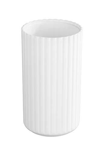 Allstar 23013100 Minas Zahnputzbecher-/ Zahnbürstenhalter (für Zahnbürste und Zahnpasta) 7 x 12 x 7 cm, Weiß
