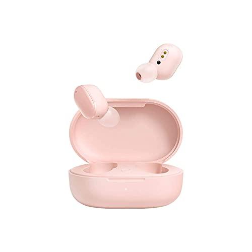 Redmi AirDots 3 Wireless Bluetooth 5.2 Fone de ouvido de carregamento rápido Estéreo baixo com microfone viva-voz Mi Fones de ouvido para iPhone e Xiaomi (Rosa)