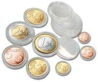Safe 80 cápsulas para monedas 10 x set completo de monedas euro en curso de 1 céntimo - 2 euros - tamaño 10 x cápsulas de monedas 165 - 19 - 20 - 21,5 - 22,5 - 23,5 - 24,5 - 26 - Ideal para coleccionista de monedas de época.: Amazon.es: Hogar