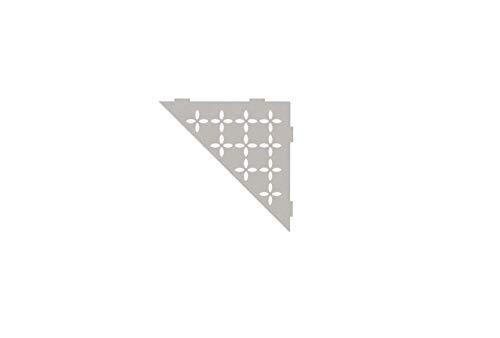 Schluter Systems Triangular Corner Shelf-E - Floral Design - Greige SES1D5TSBG Shower Acessory
