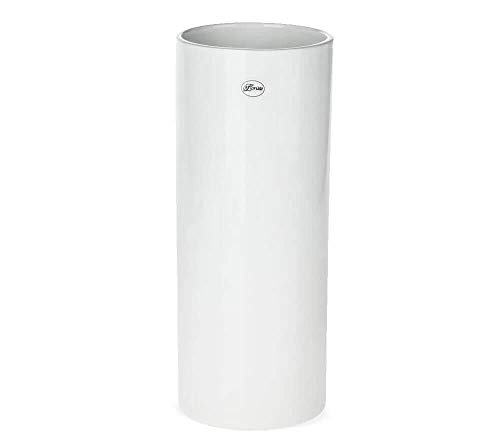 matches21 Vase Keramik Zylinder weiß Deko Keramikvase Blumenvase Tischvase Bodenvase hoch rund 1 STK - Ø 12x30 cm